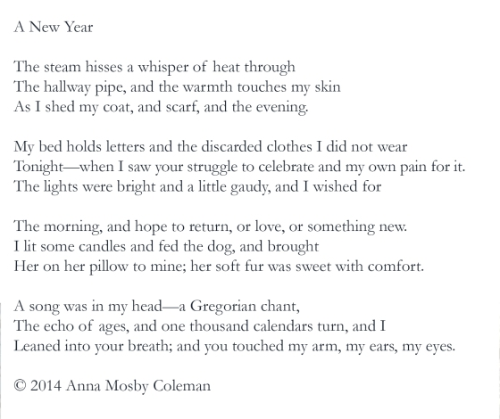 A New Year's Poem by Anna Mosby Coleman